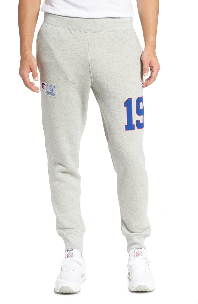 CHAMPION Century Collection Tackle Jogger Sweatpants, Main, color, OXFORD GREY