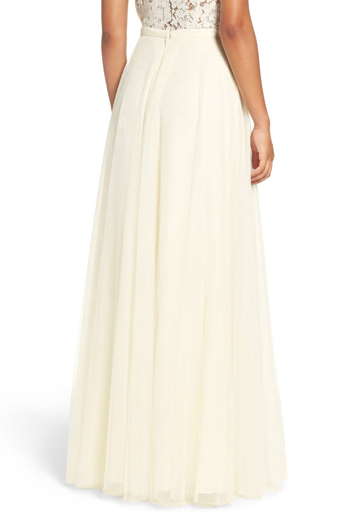 ,                             Winslow Long Tulle A-Line Skirt,                             Alternate thumbnail 3, color,                             104