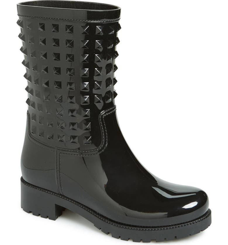 VALENTINO GARAVANI 'Rockstud' Rain Boot, Main, color, Black