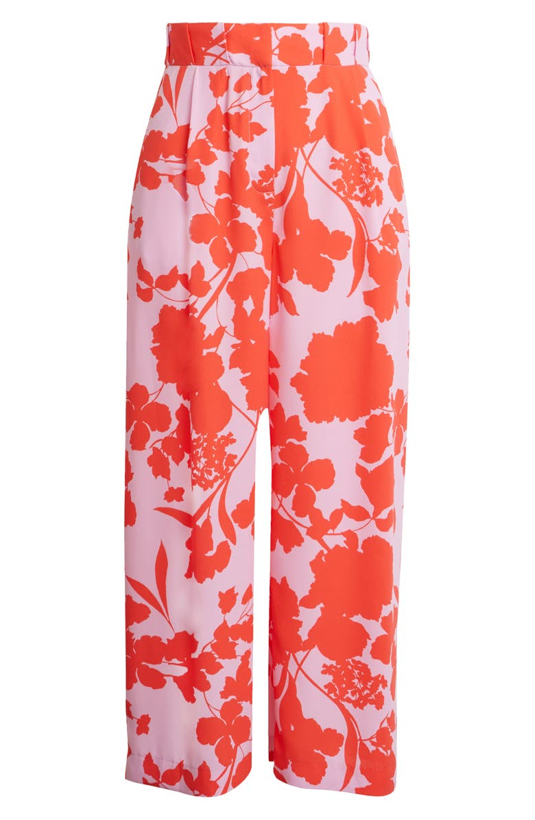 HALOGEN<SUP>®</SUP> x Atlantic-Pacific Pleat Detail Print Pants, Main, color, 610