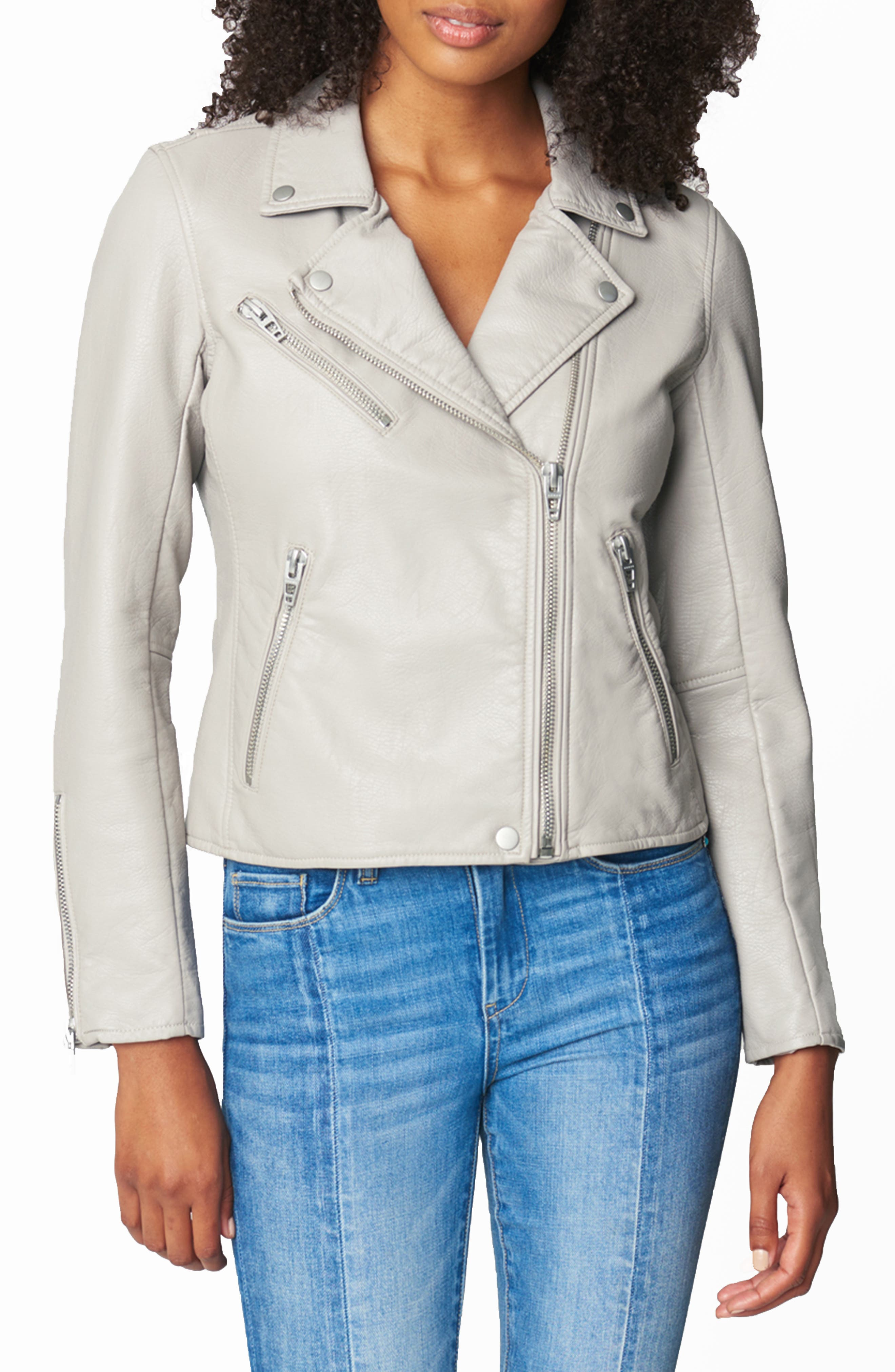 Women's Blanknyc Faux Leather Moto Jacket, Size Large - Black