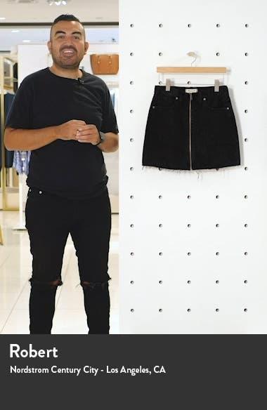 Rigid Denim Miniskirt, sales video thumbnail