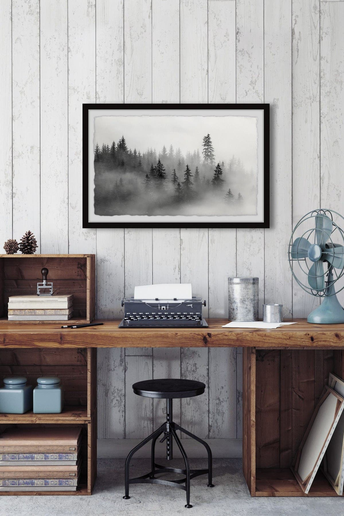 Image of Marmont Hill Inc. The Mysterious Dark Forest Wall Art