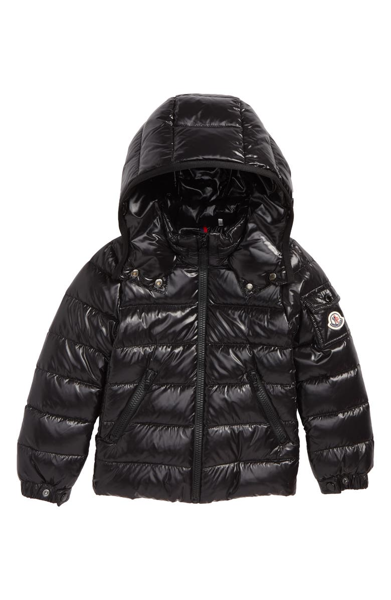 MONCLER Bady Hooded Down Jacket, Main, color, BLACK