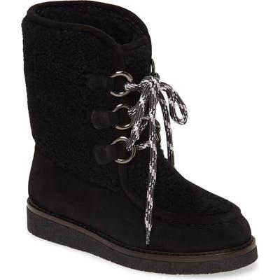 Aquatalia Wynter Water Resistant Genuine Shearling Boot, Black