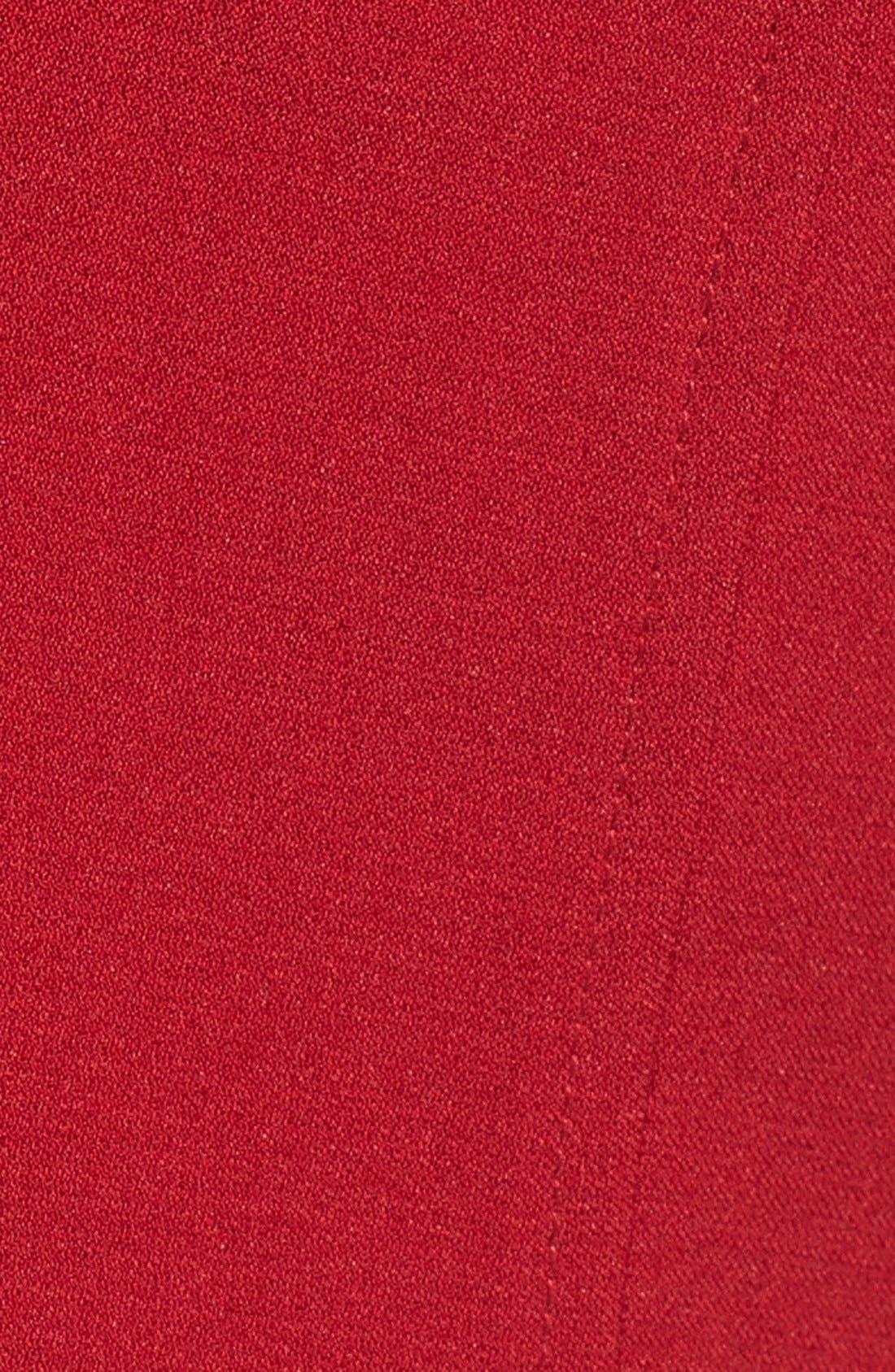,                             Illusion Yoke Crepe Sheath Dress,                             Alternate thumbnail 23, color,                             615