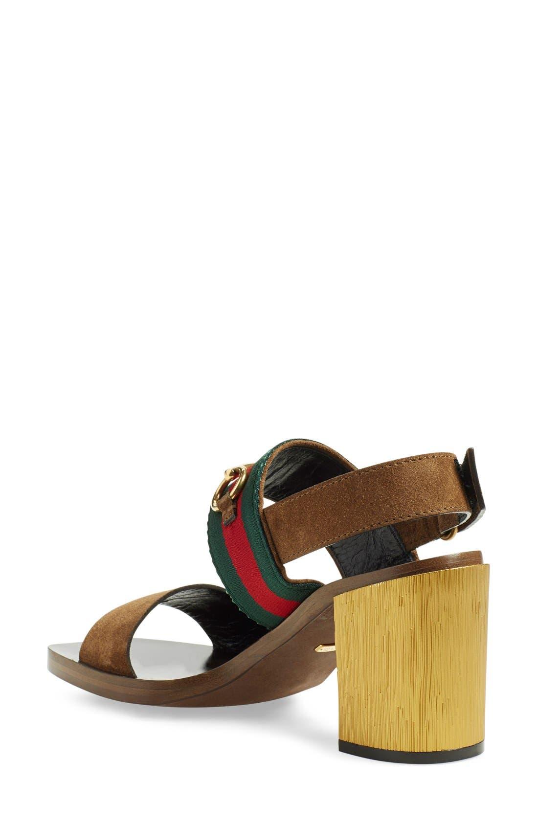 ,                             'Querelle' Horsebit Slingback Sandal,                             Alternate thumbnail 2, color,                             250