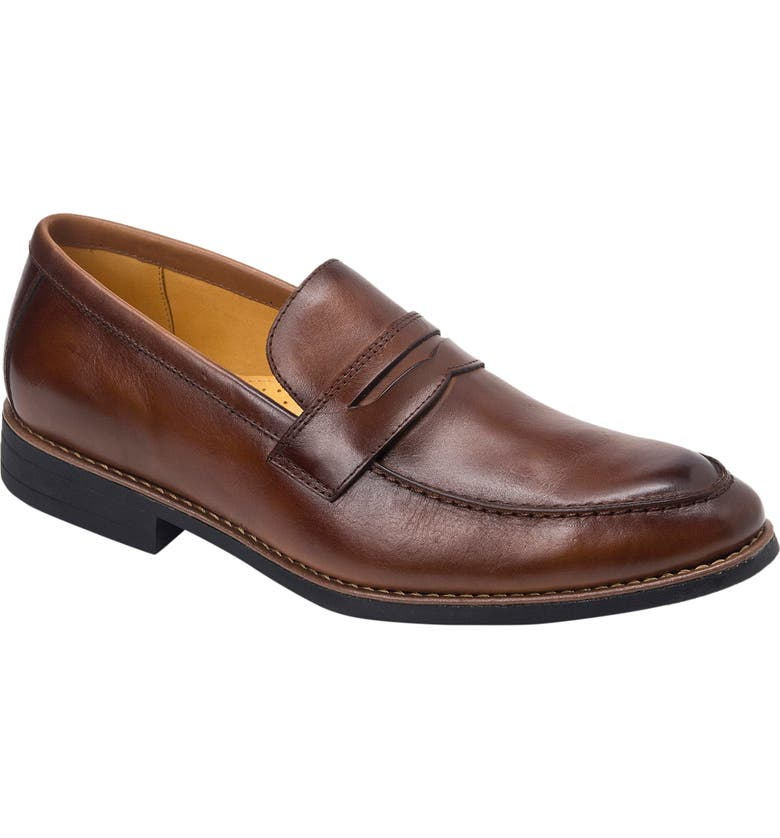 SANDRO MOSCOLONI Mundo Penny Loafer, Main, color, BROWN LEATHER