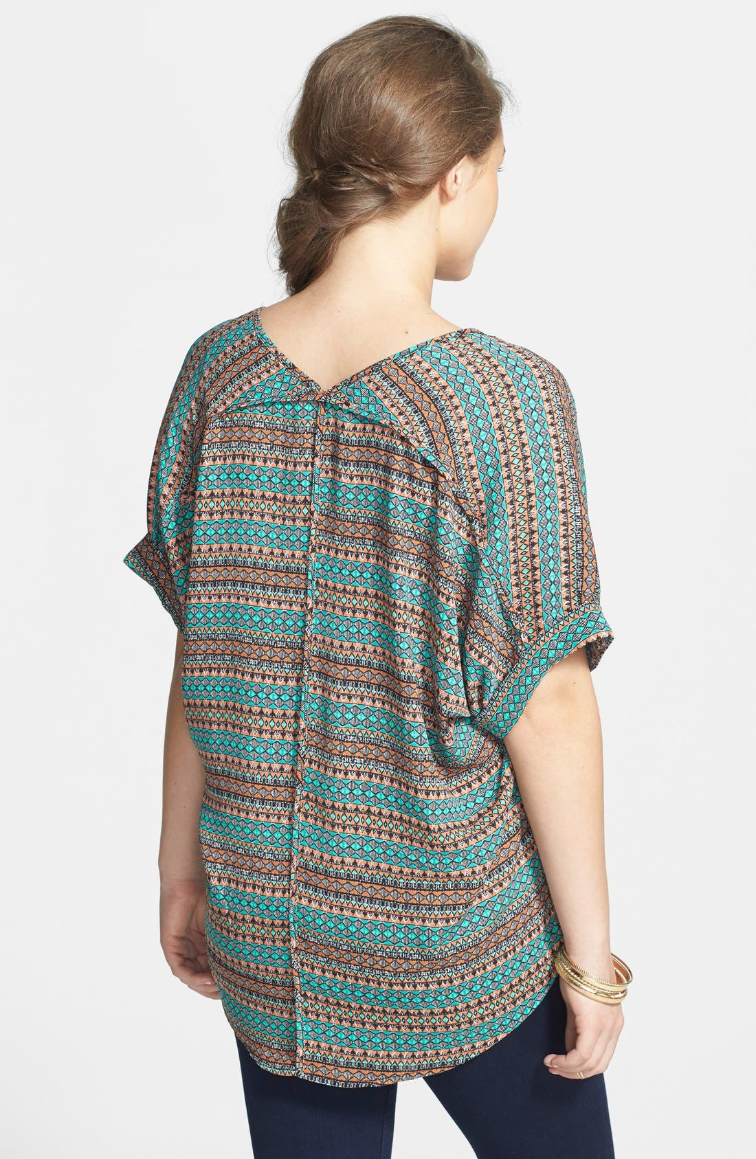 ,                             Lush Cuff Sleeve Woven Tee,                             Alternate thumbnail 70, color,                             402