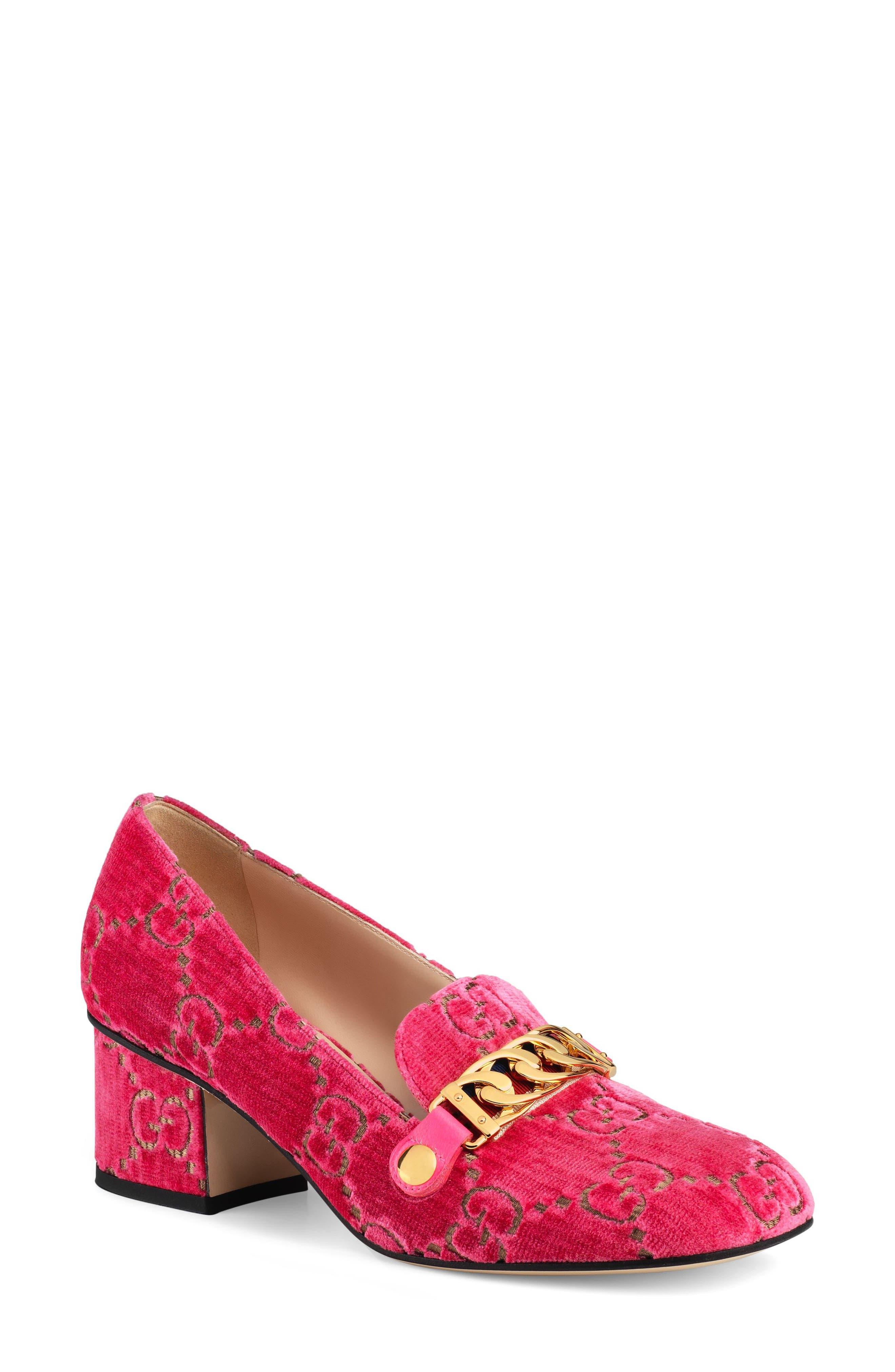 Gucci Sylvie Loafer Pump - Pink