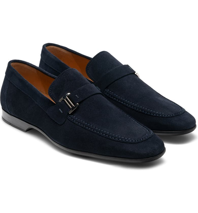 MAGNANNI 'Lino' Loafer, Main, color, NAVY SUEDE
