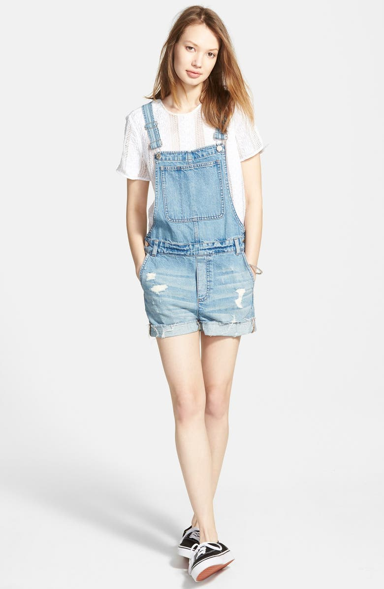 MADEWELL 'Adirondack' Short Overalls, Main, color, 400