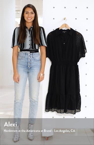 Textured Chiffon Shirtdress, sales video thumbnail