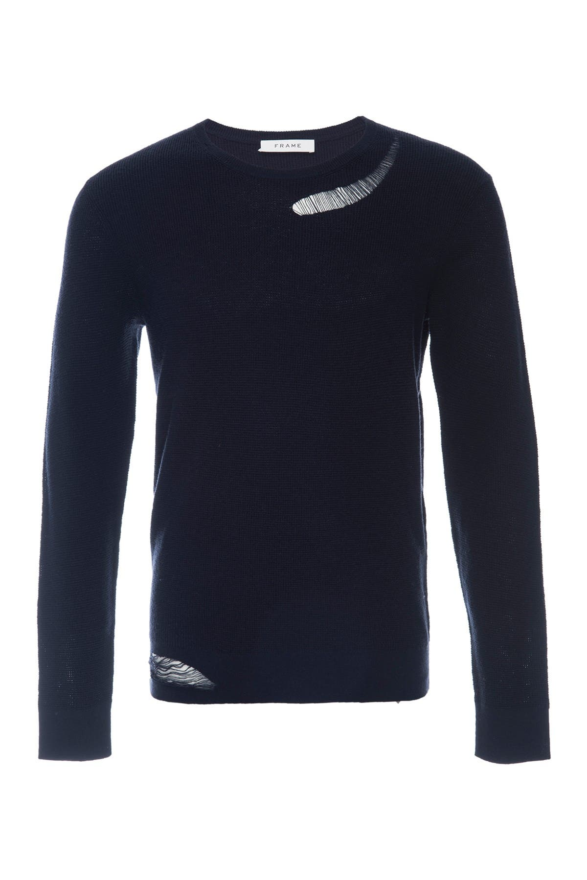 Image of FRAME Slim Fit Distressed Sweater