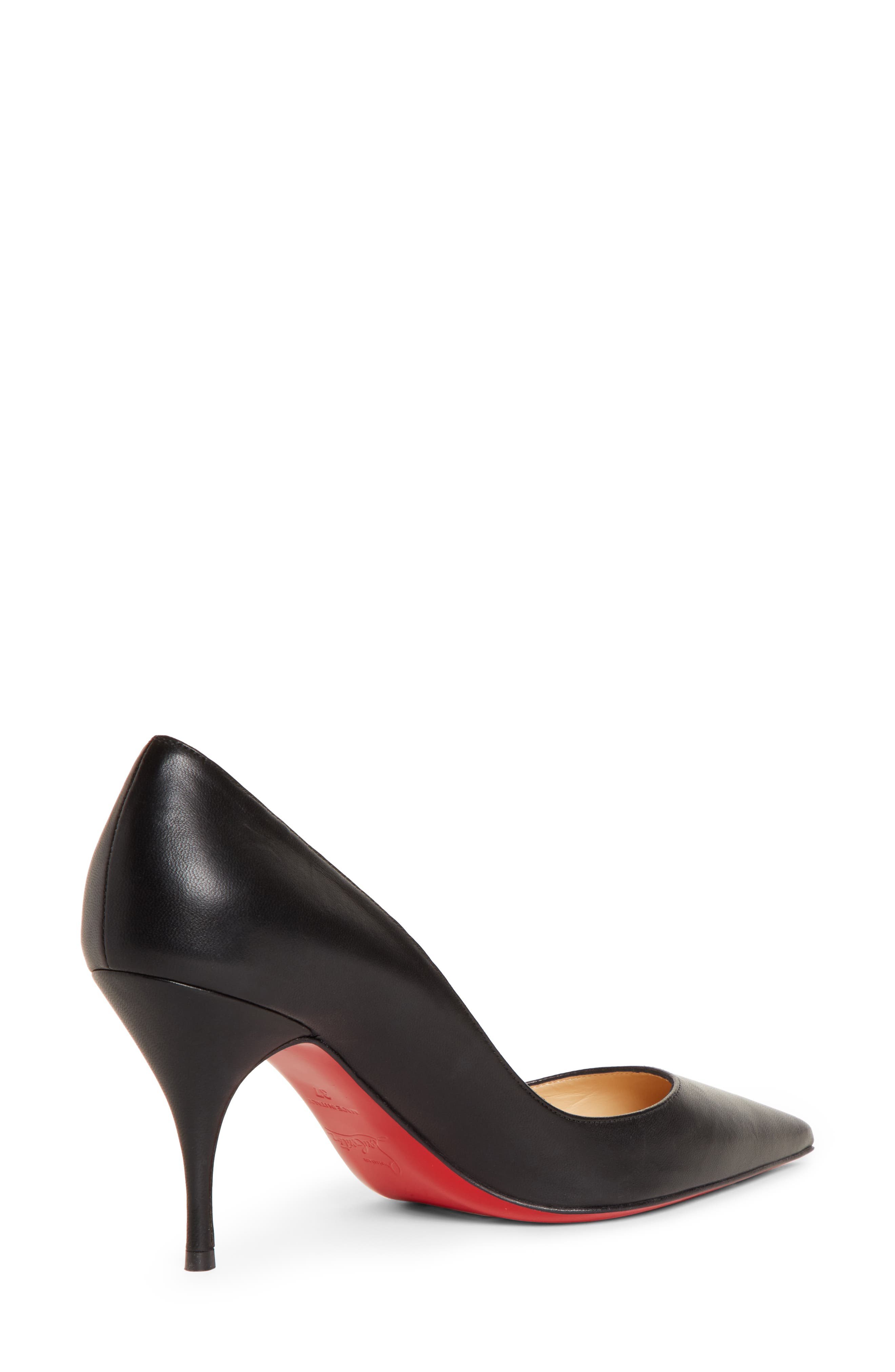,                             Clare Pointy Toe Pump,                             Alternate thumbnail 2, color,                             BLACK LEATHER