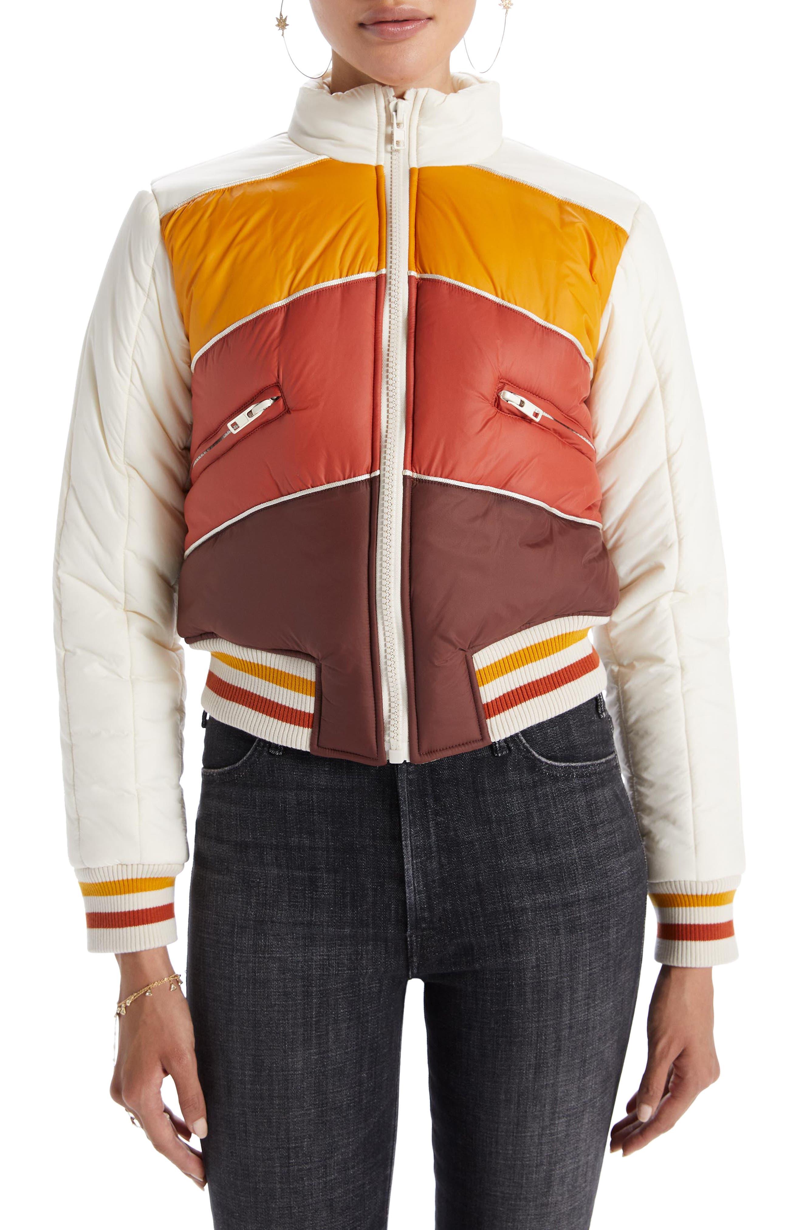 70s Jackets, Furs, Vests, Ponchos MOTHER The Downward Slope Puffer Jacket Size Large in Crowd Surfing at Nordstrom Rack $169.97 AT vintagedancer.com