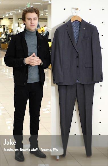 Roger Slim Fit Solid Wool Suit, sales video thumbnail