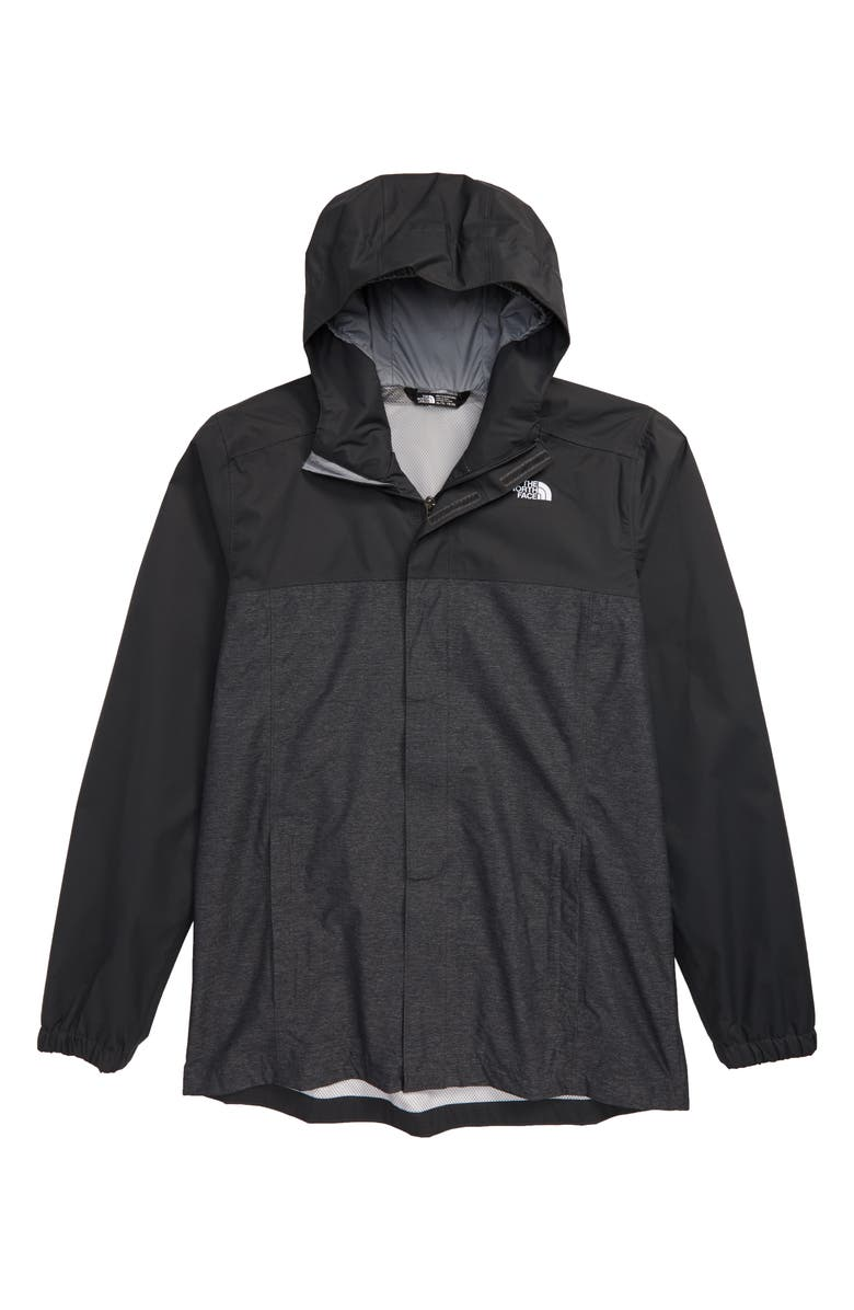 THE NORTH FACE Resolve Waterproof Jacket, Main, color, TNF MEDIUM GREY HEATHER