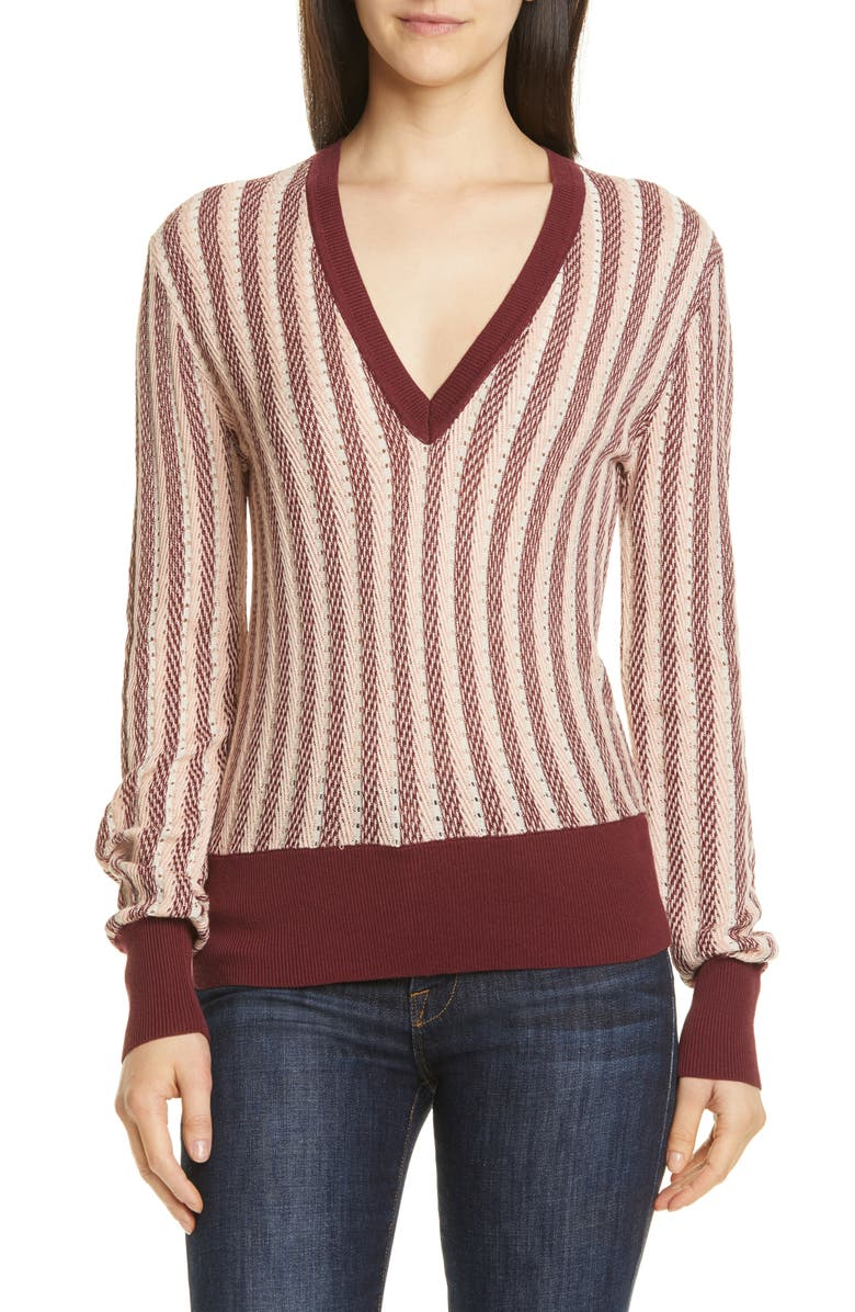 Equipment Pierette Silk Cotton V Neck Sweater