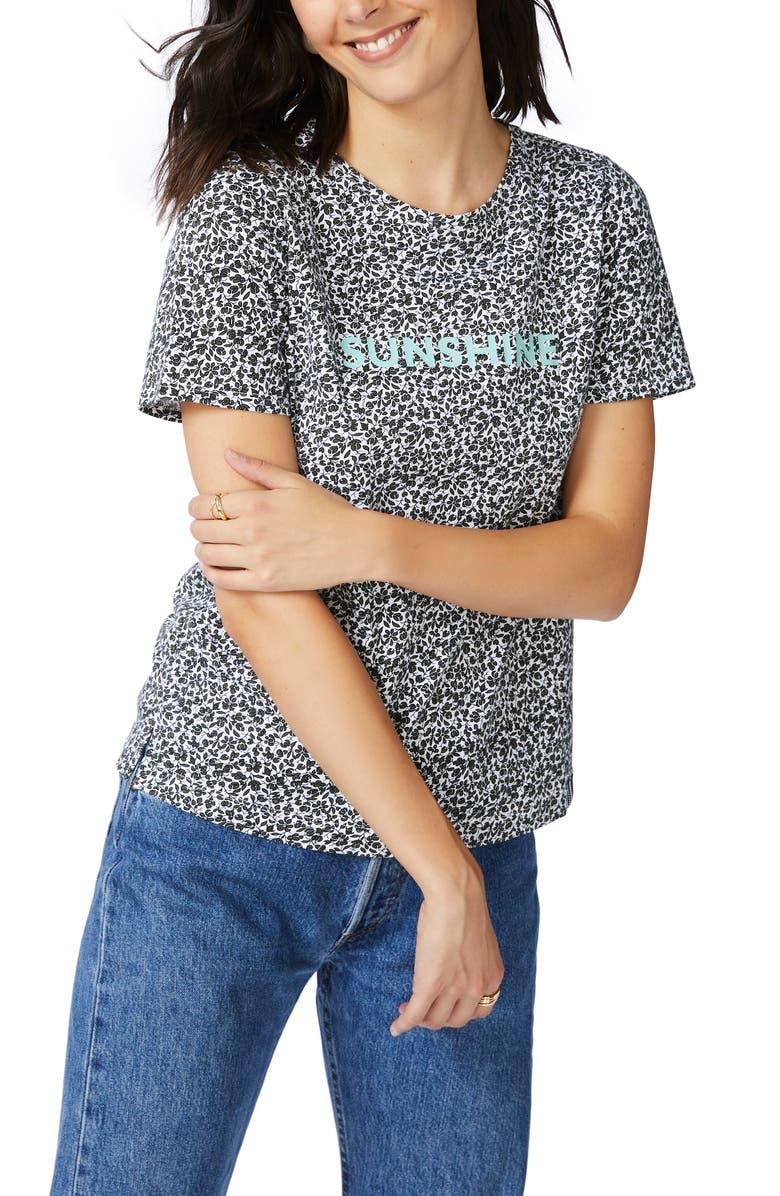 COURT & ROWE Folk Floral T-Shirt, Main, color, 001