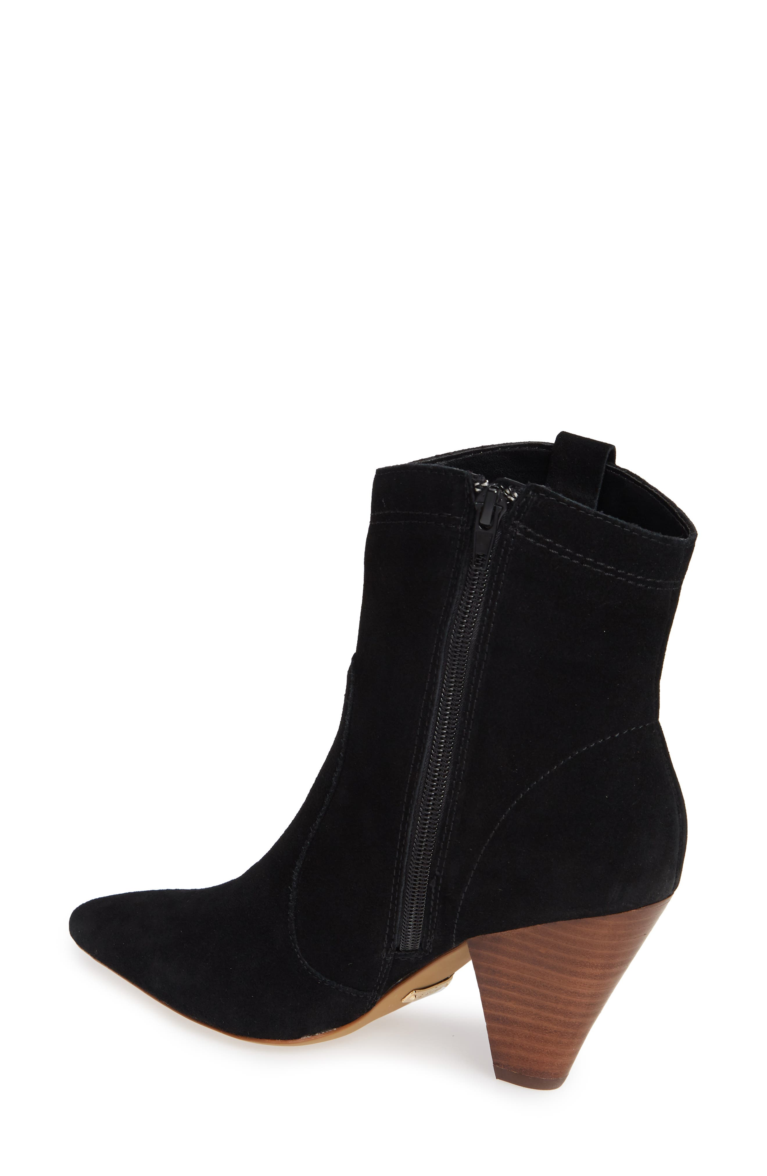 ,                             Kalila Pointy Toe Bootie,                             Alternate thumbnail 2, color,                             BLACK SUEDE