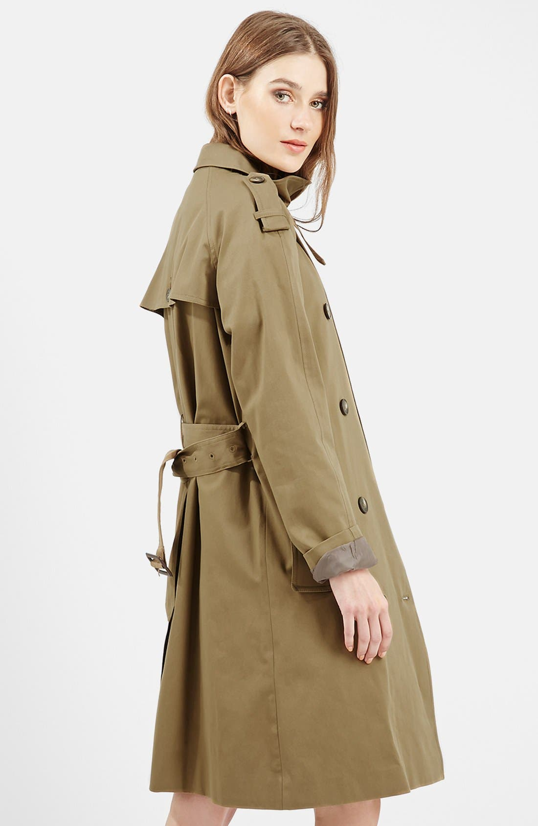 ,                             Double Breasted Cotton Trench,                             Alternate thumbnail 8, color,                             300