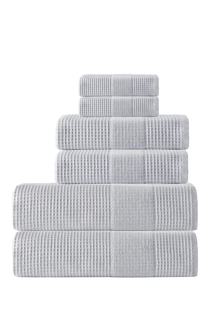 Image of ENCHANTE HOME Ria Turkish Cotton 6-Piece Towel Set - Silver