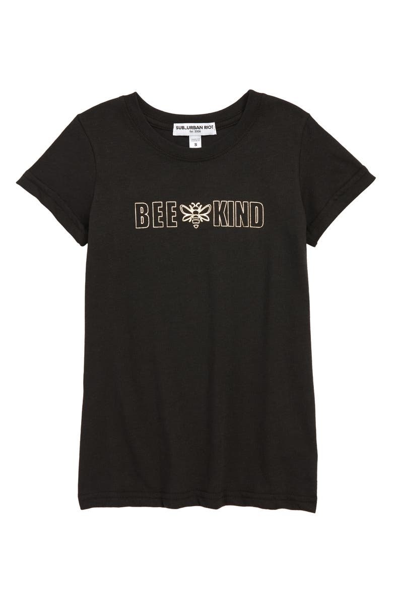 SUB_URBAN RIOT Bee Kind Tee, Main, color, 001