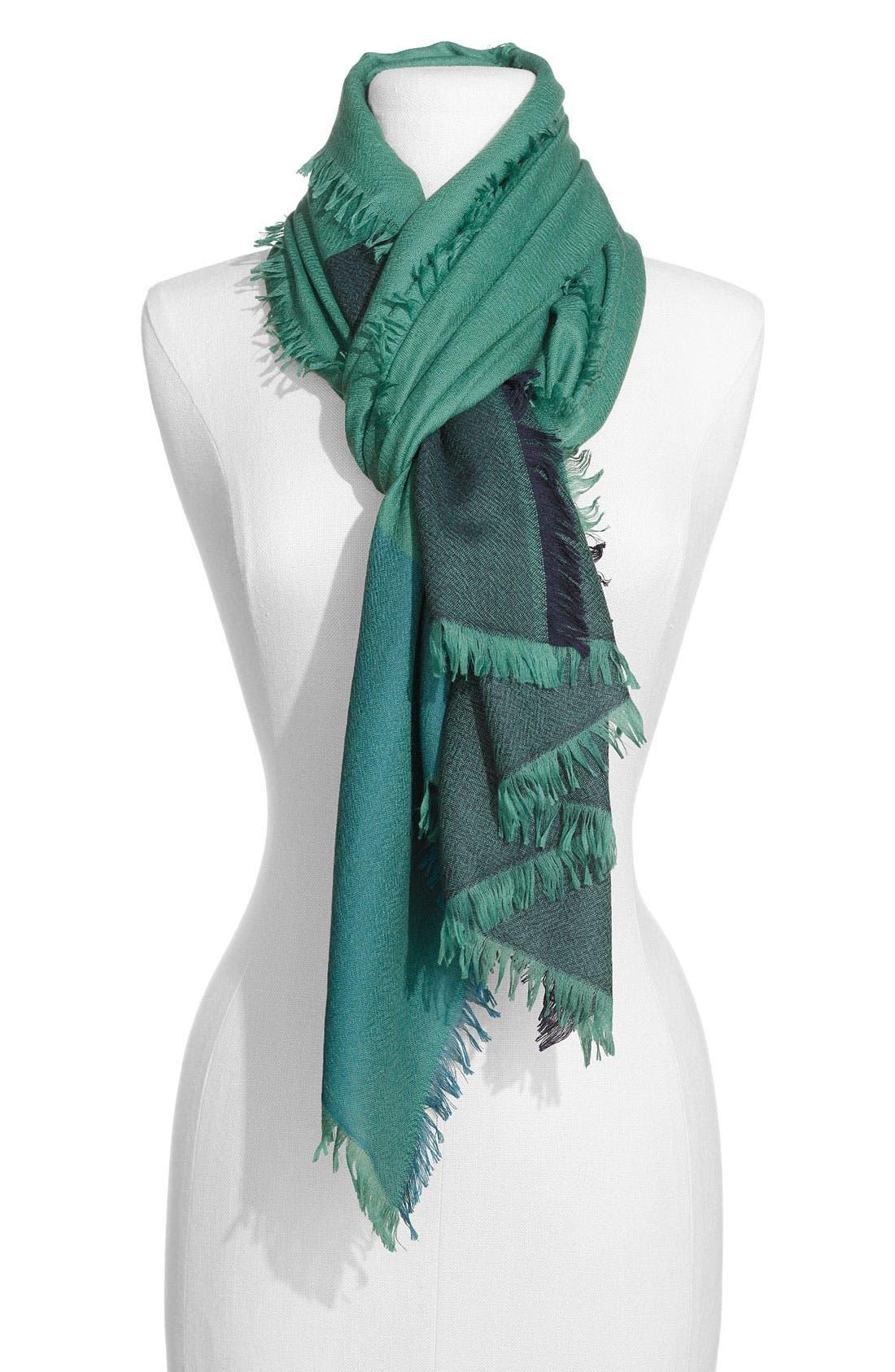 ,                             'Eyelash' Colorblock Cashmere Wrap,                             Main thumbnail 28, color,                             302