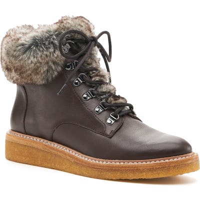 Botkier Winter Faux Fur Trim Boot- Brown