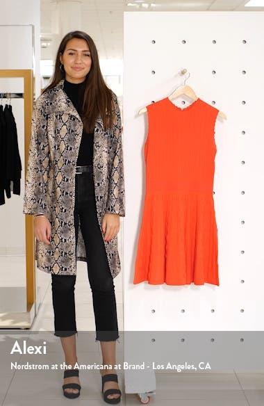 Kamylia Scallop Knit Skater Dress, sales video thumbnail