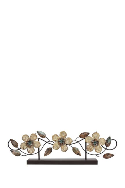 Image of Stratton Home Multi Stamp Wood Flower Table Top Decor