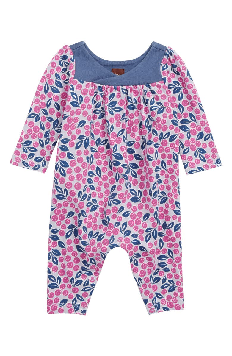 4fcd3eaa265 Tea Collection Blueberries Wrap Neck Romper (Baby) | Nordstrom