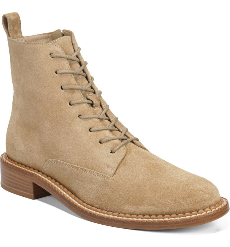 VINCE Cabria Lace-Up Boot, Main, color, SAND