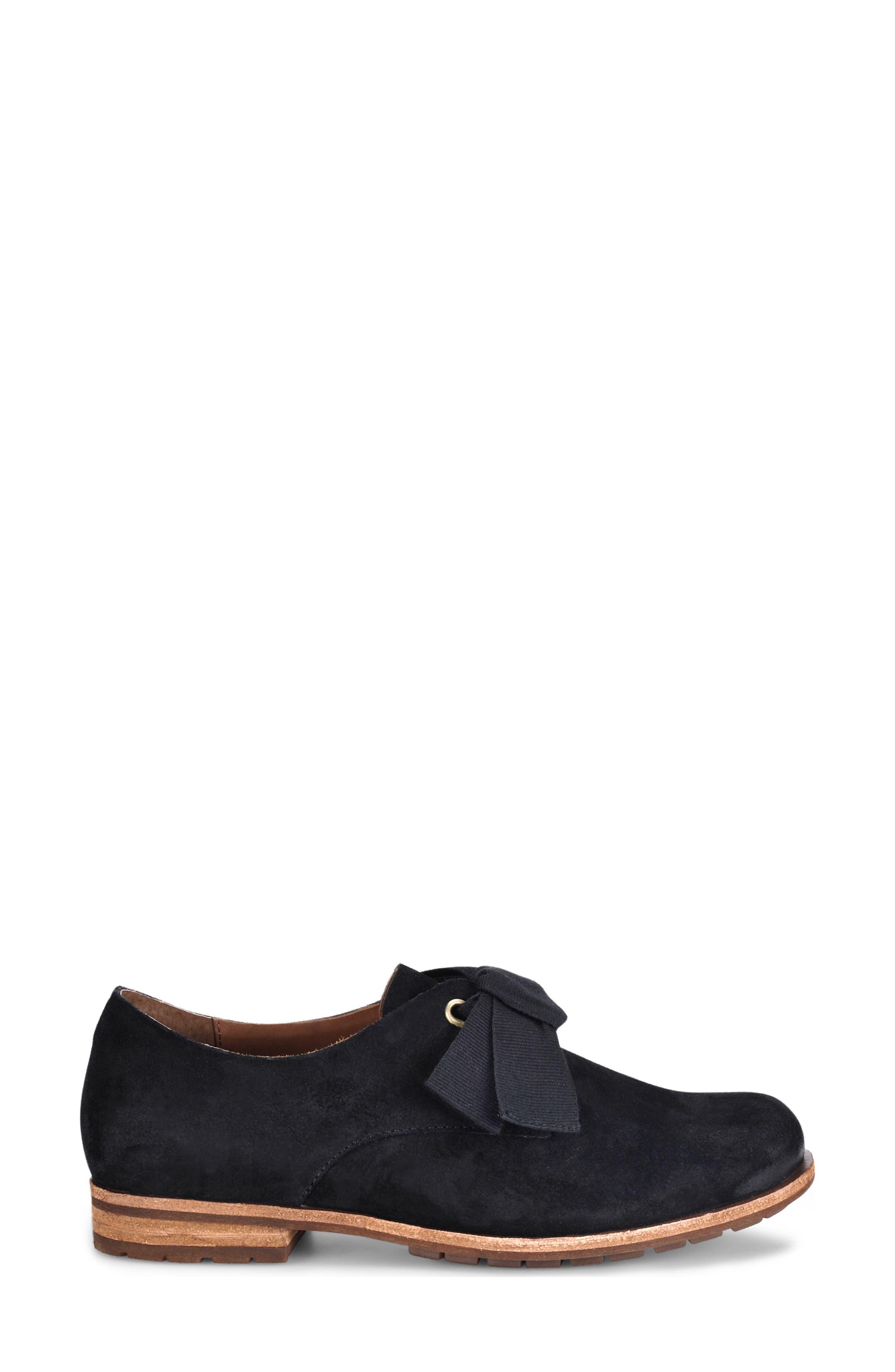 ,                             Beryl Bow Flat,                             Alternate thumbnail 3, color,                             BLACK SUEDE