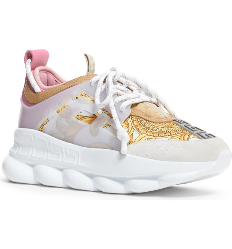 VERSACE FIRST LINE Chain Reaction Platform Sneaker, Main, color, WHITE MULTI