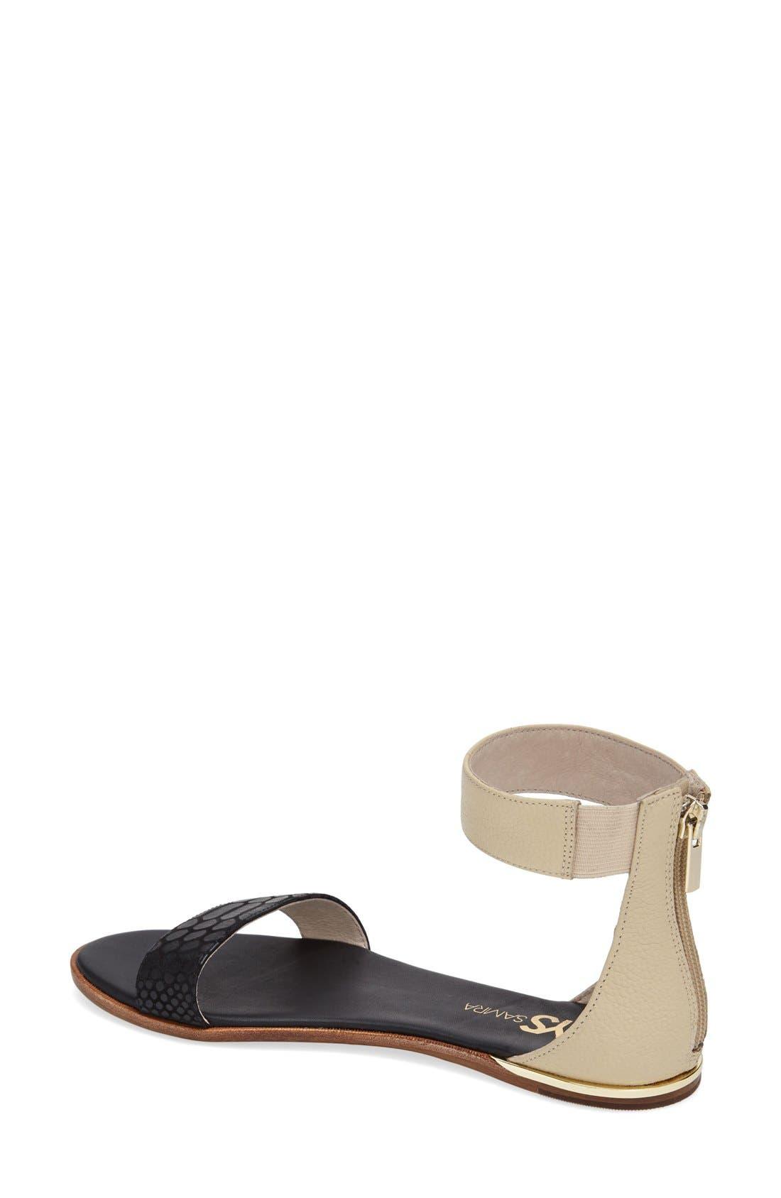 ,                             'Cambelle' Ankle Strap Sandal,                             Alternate thumbnail 6, color,                             003