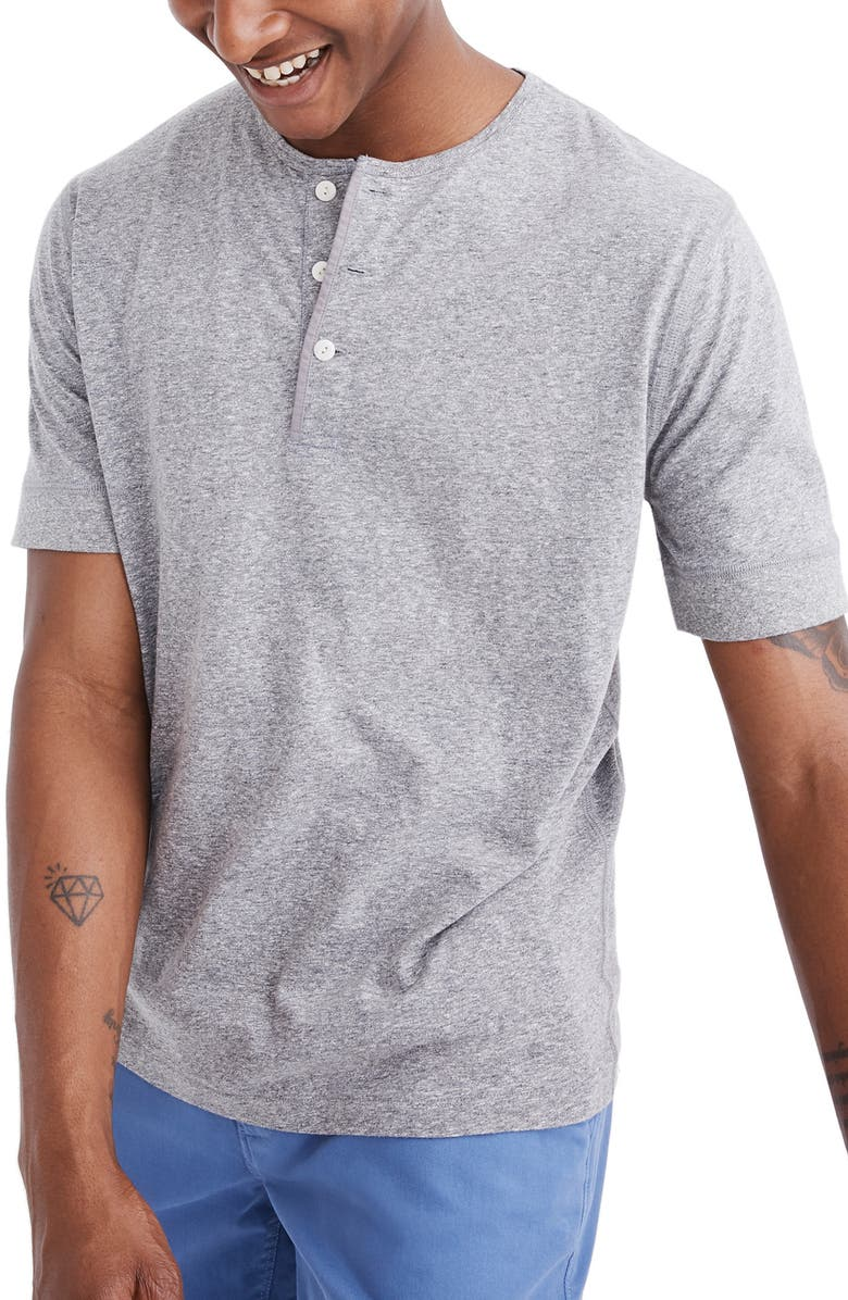 MADEWELL Heathered Henley T-Shirt, Main, color, 022