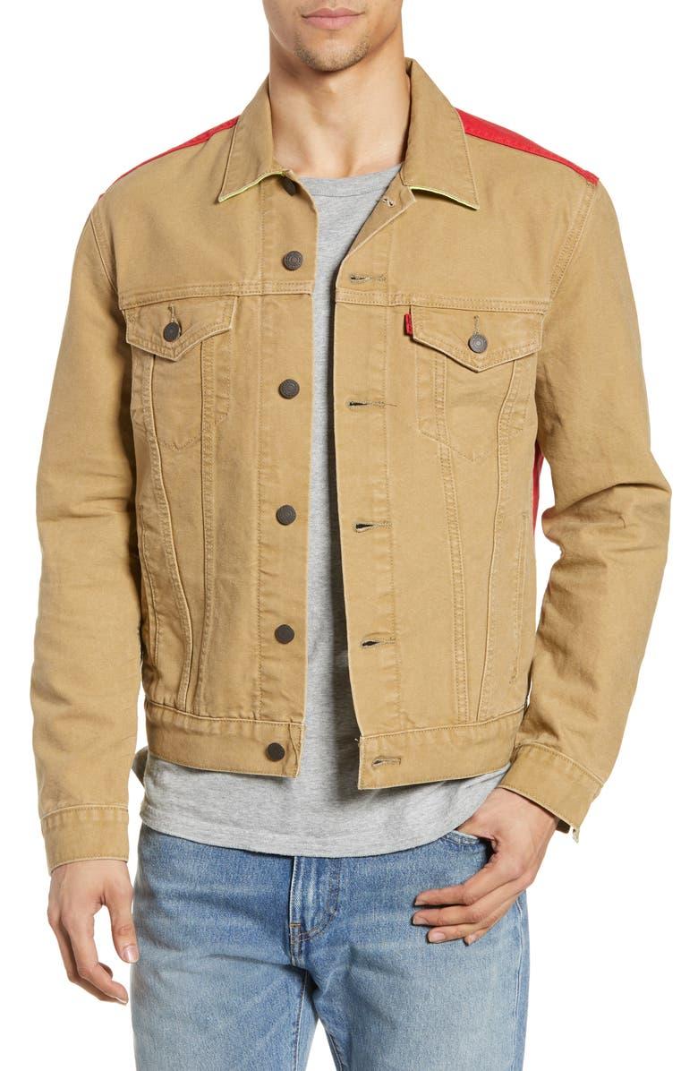 LEVI'S<SUP>®</SUP> x Justin Timberlake Colorblock Trucker Jacket, Main, color, 001