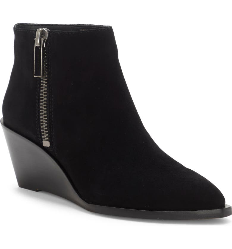 1.STATE Kipp Wedge Bootie, Main, color, BLACK SUEDE