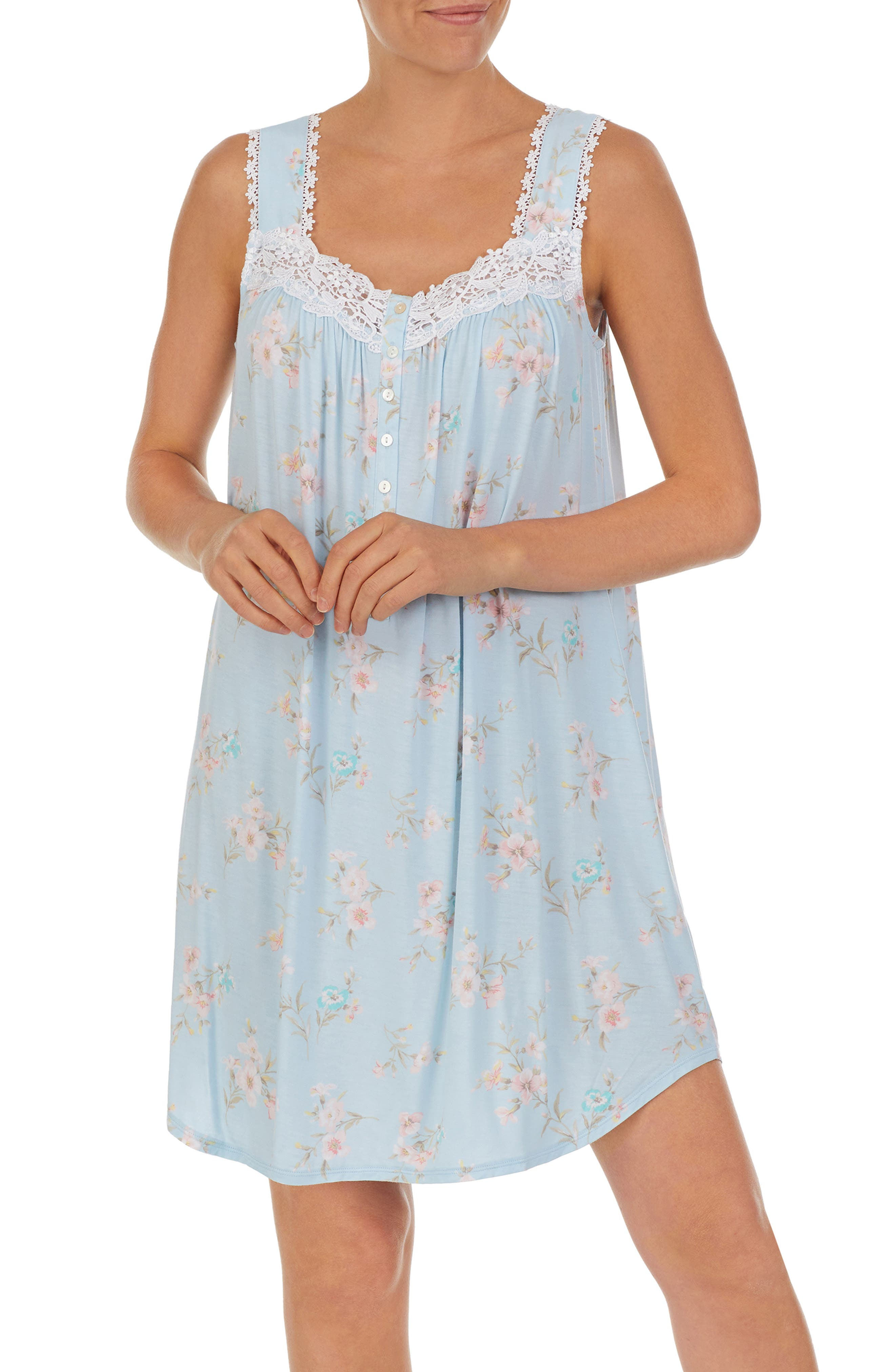 Floral Short Jersey Nightgown