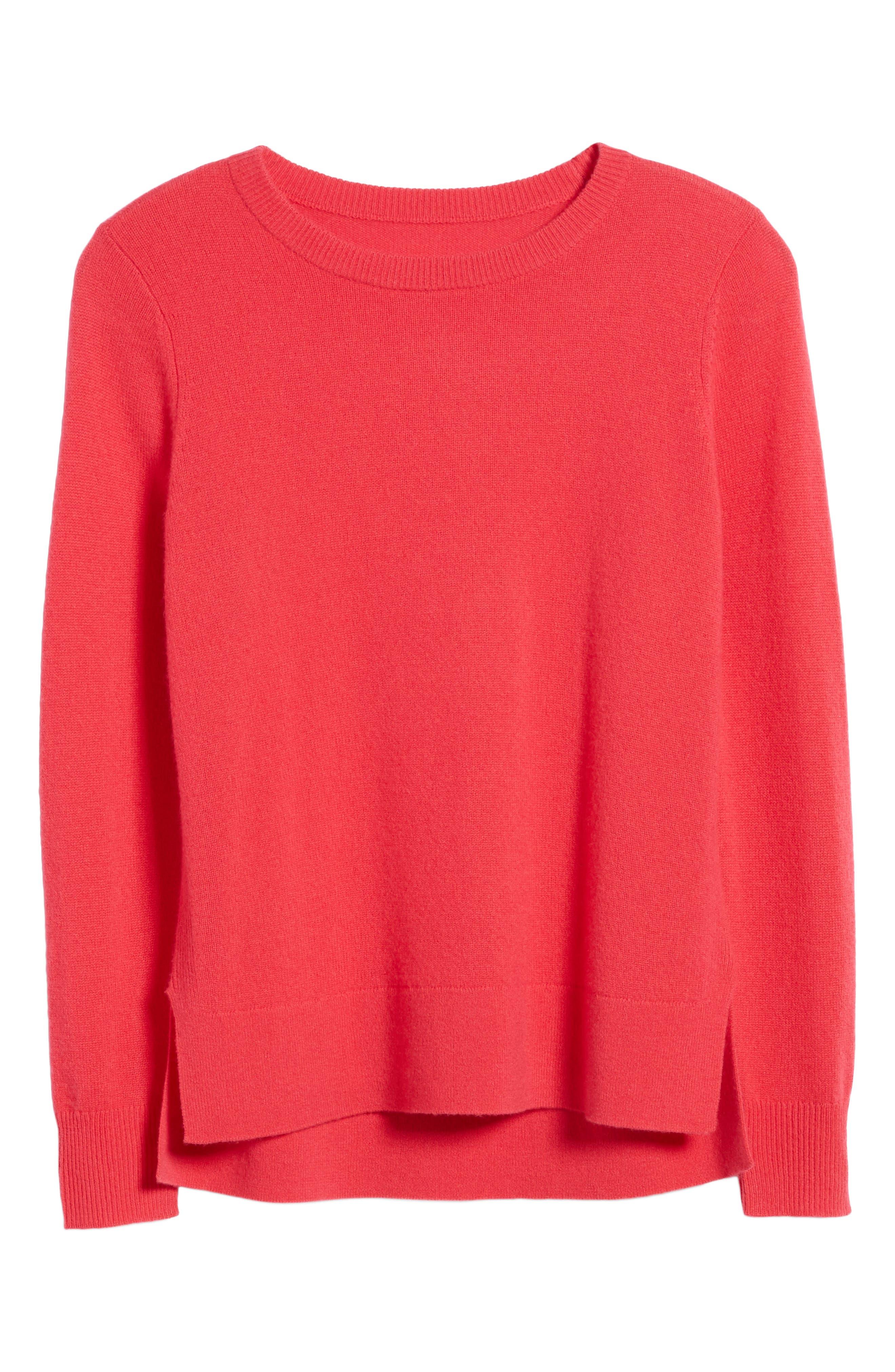 ,                             Crewneck Cashmere Sweater,                             Alternate thumbnail 167, color,                             650