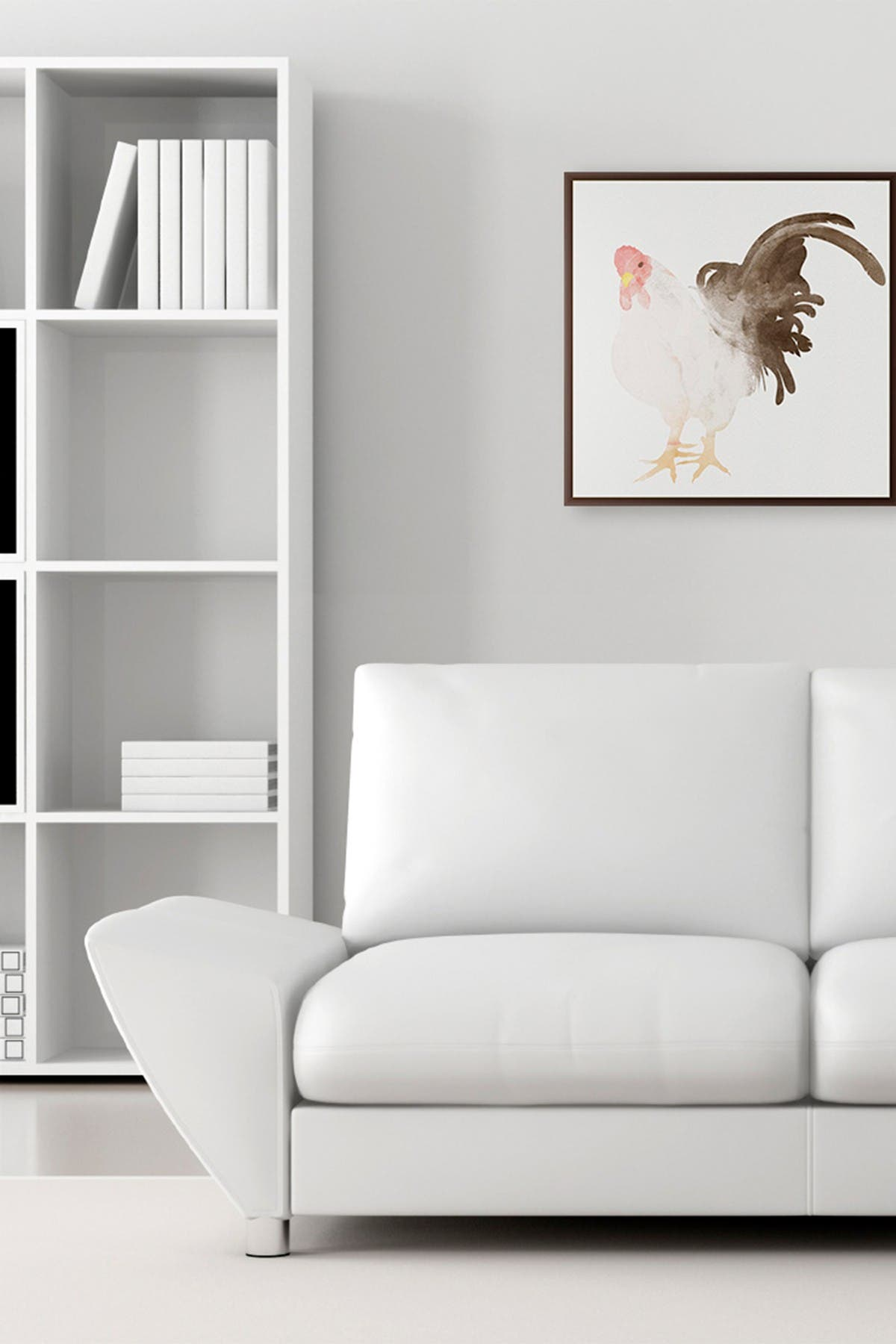 Image of PTM Images Large Rooster Barn Canvas Wall Art