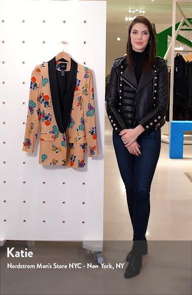 Floral Long Shawl Lapel Blazer, sales video thumbnail