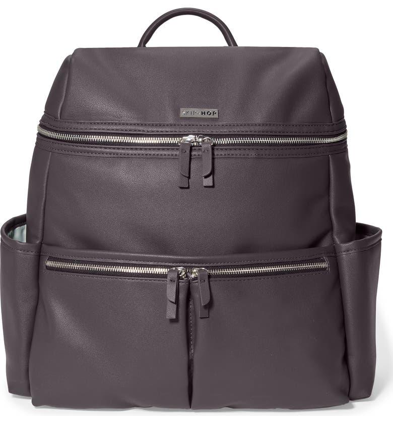 SKIP HOP Flatiron Faux Leather Diaper Backpack, Main, color, 200