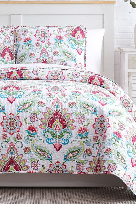 Image of SOUTHSHORE FINE LINENS Luxury Collection Oversized Quilt Sets 3-Piece Set - King/California King