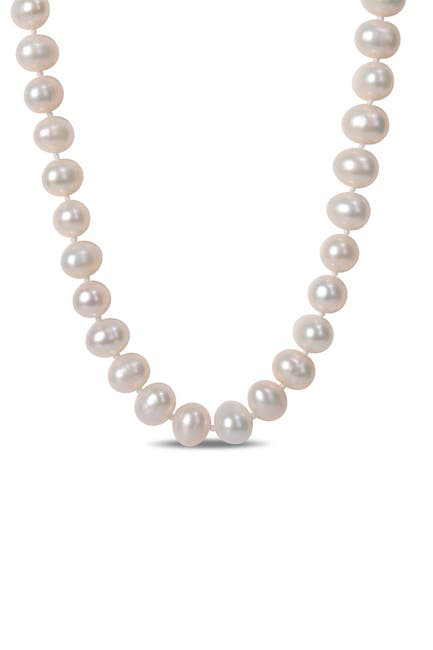 Image of Delmar Sterling Silver 7.5 - 8mm Cultured Freshwater Pearl Strand Necklace