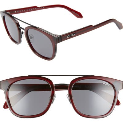 Quay Australia Coolin 51Mm Polarized Sunglasses - Red/smoke