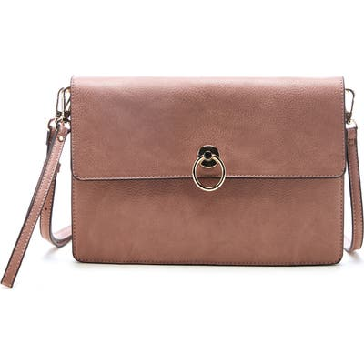 Sole Society Faux Leather Clutch - Pink