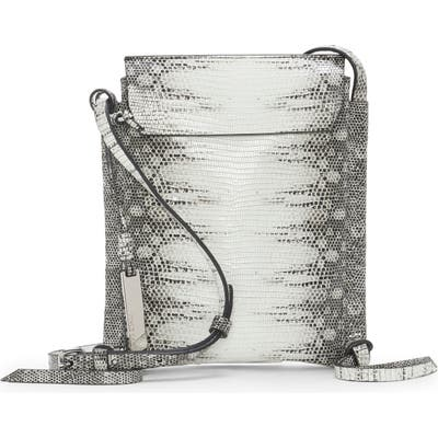 Vince Camuto Rilo Lizard Embossed Leather Crossbody Bag -